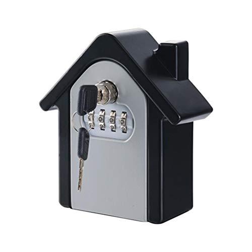 Yousiju Hucha, Seguridad para el hogar, Caja de Almacenamiento Duradera, escondite para Llaves de Dinero, 4 dígitos, Seguridad, código Secreto, Bloqueo, Montaje en la Pared, combinación de contraseña