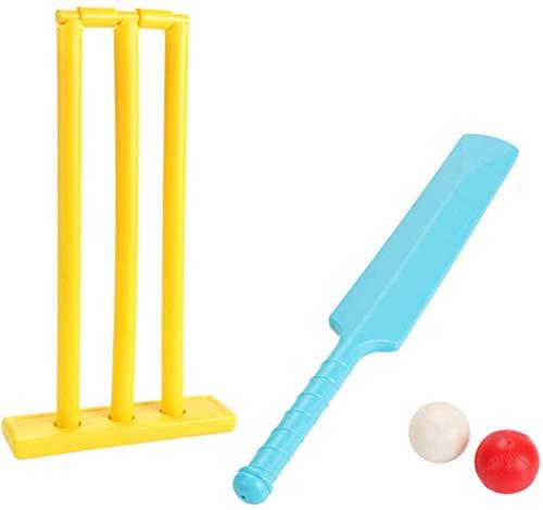 FSHOW Kinder Cricket Set Plastic Toy Set, Outdoor Kids Sports Spiel Spiel Set mit Cricket Bat und Schlagbrett für Jungen Mädchen Garten Hinterhof Beach Park Cricket Spielen