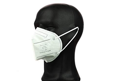 FFP2 Maske in Deutschland hergestellt - Zertifizierte Atemschutzmaske mit 97% Filterwirkung – EN 149 geprüft, 4-lagig, kein KN95-10 Stück