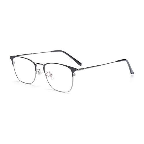 EYEphd Gafas de Lectura fotocrómica multifocal progresiva al Aire Libre de los Hombres, 1,56 Gafas de Sol de Metal de Lente de Resina asférica / UV400 Ampliación +1.0 a +3.0,Gris,+2.0