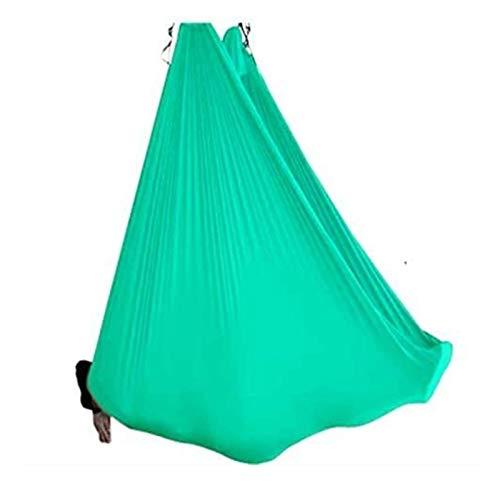 Yoga aérea Hamaca Balance de Cinturón de tela Red Flying dispositivo antigravedad Yoga Hamaca correas, Juego for Inversiones Yoga mejorado, flexibilidad fuerza de la base lucar ( Color : Light Green )