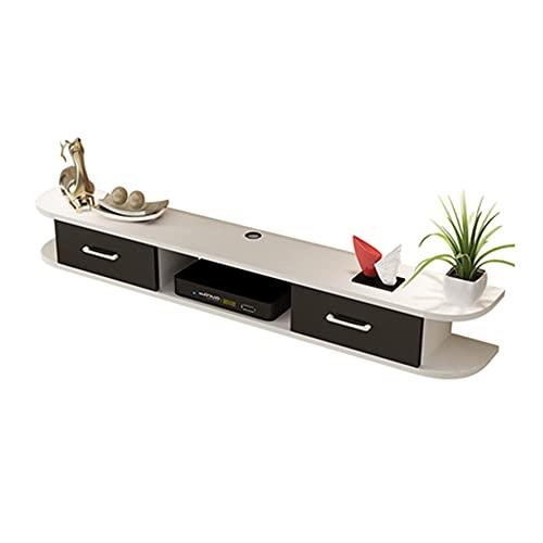 Mueble TV Colgante,Mesa para TV Lowboard Movie,Mueble de TV flotante,Mesa Flotante para TV, para sala de estar, dormitorio, oficina, gran espacio de almacenamiento, soporte de carga fuerte/A /