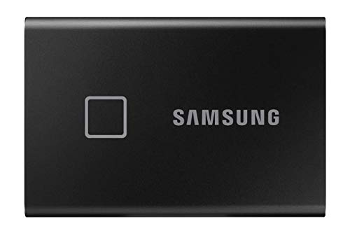 Samsung T7 Touch Portable SSD - 2 TB - USB 3.2 Gen.2 Externe SSD Metallic Black (MU-PC2T0K/WW)