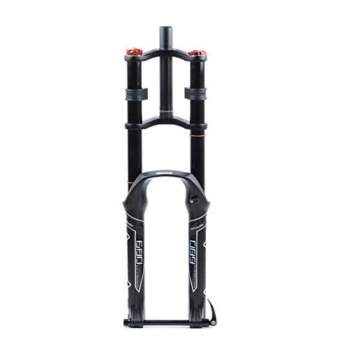 SASCD Tenedor de Bicicletas 26/27.5 / 29er Hombro Doble Aire Resistente al Aire Aceite Ampliación del Freno de Disco Suspensión Tenedor Accesorio de Bicicleta (Color : 27.5 Air AXLE)