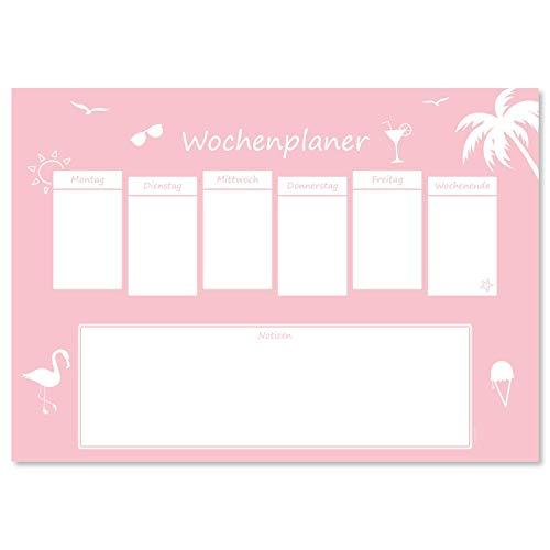 Vade de escritorio 'Miami' de papel, DIN A3, 24 hojas, para niños y adultos, ideal como bloc de notas, organizador, planificador semanal y planificador diario