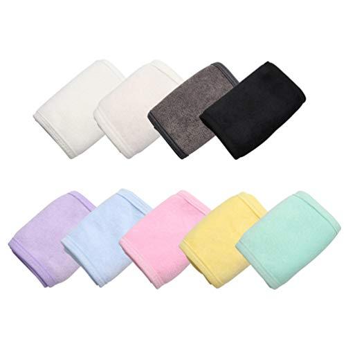 Minkissy 2 Pcs Spa Bandeau Cheveux Wrap Sweat Bandeau Lavable Maquillage Bandeau pour Le Lavage du Visage Traitement du Visage Sport Yoga (Violet)