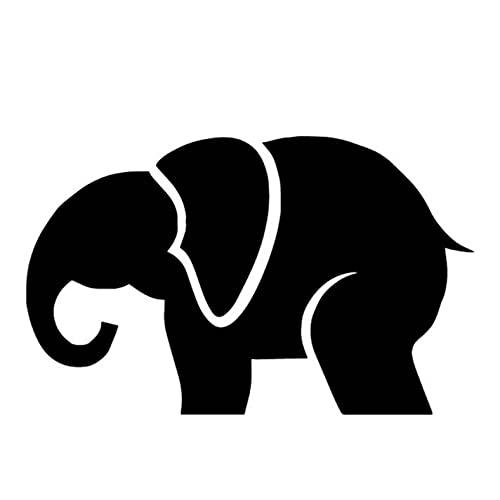 PAOPD Pegatinas de vehículos para niños 15,2 CM * 9,5 CM Pegatinas con patrón de Elefante para Coches, Motocicleta, portátil, monopatín, Equipaje, Pegatinas, calcomanías