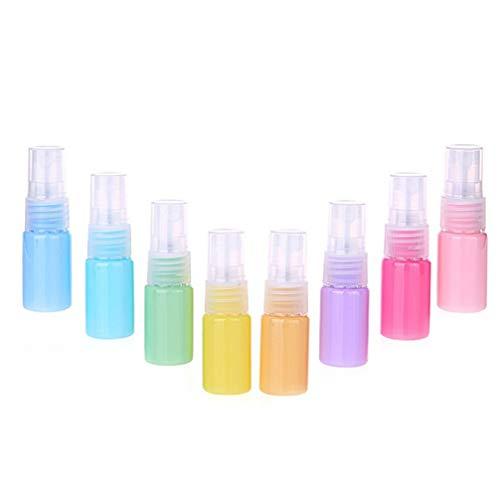 Artibetter 8Pcs 30Ml Mini Botellas de Spray Vacías Botellas de Spray Recargables de Plástico Botellas de Licor Portátiles Botella Cosmética de Viaje Color Mezclado