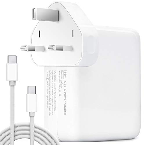 96W USB-C Power Adapter, USB C Charger Compatible with Macbook Pro Charger with USB C Cable Compatible with MacBook Air/Pro/Retina, iPad Pro, Matebook Dell Hp Asus Acer Laptop Type C PD Fast Charge