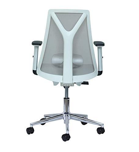 Misuraa Mesh Upholstery Back Chair (Grey, White)