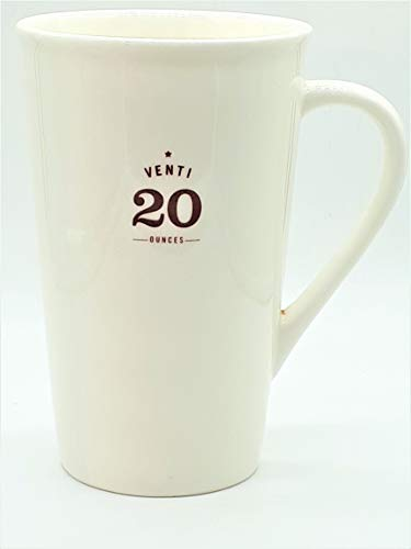 ONE Starbucks Ounces series Ceramic Mug VENTI 20oz Coffee Cup GLOSSY