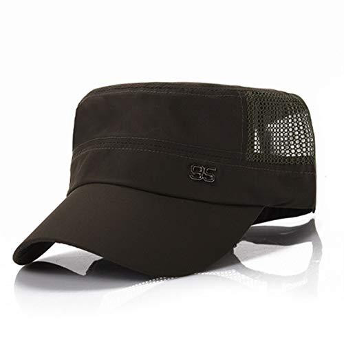 Sombrero para hombre, gorra plana simple monocromo, sombrero militar clásico al aire libre, gorra plana para hombre y mujer, sombreros MENGN (color: verde militar)