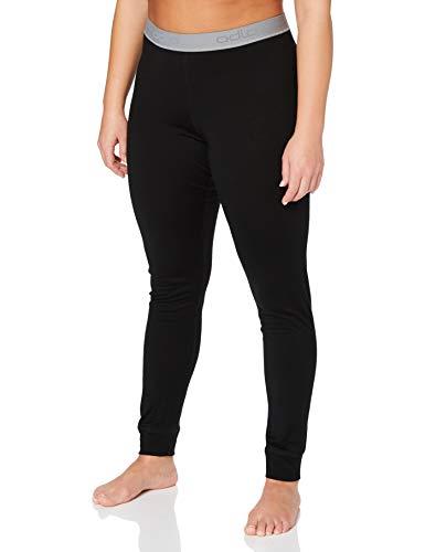 Odlo SUW Bottom Pant Natural 100% Merino Warm Caleçon Femme, Noir, L