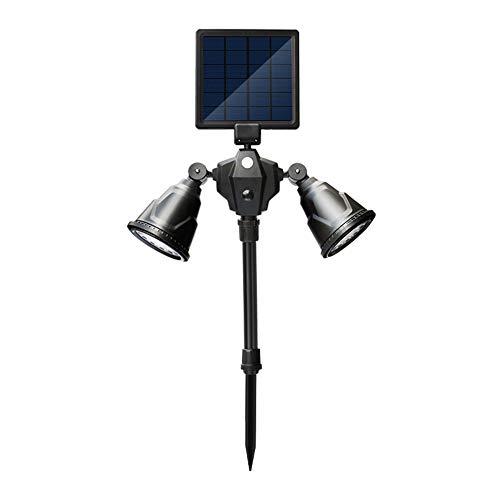 XFHLL Luce Solare, 36Led a Doppia Testa per Esterno a induzione per Corpo Umano Faretto per Prato 360 ° Senza Angolo Morto LED Luce Solare per Esterni, Cambio Luce Solare Stradale Impermeabile IP65