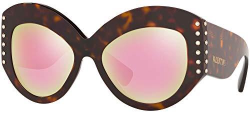 Valentino Gafas de sol VA4055 50024Z la habana rojo tamaño de 55 mm de gafas de sol de las mujeres