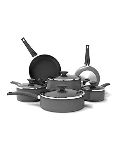 Crux Aluminum Nonstick 10 Piece Cookware Set (Gray)