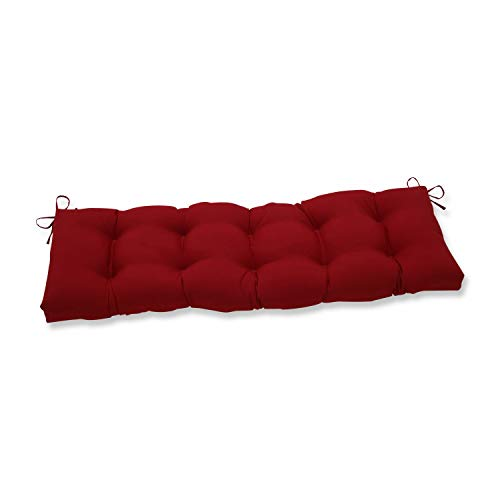 Pillow Perfect Outdoor/Indoor Pompeii Tufted Bench/Swing Cushion, 60' x 18', Red