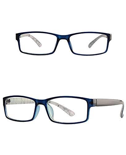 AdorabFrames Gafas moda espejo plano retro ultraligero montura cuadrada montura de gafas hombre y mujer montura de gafas