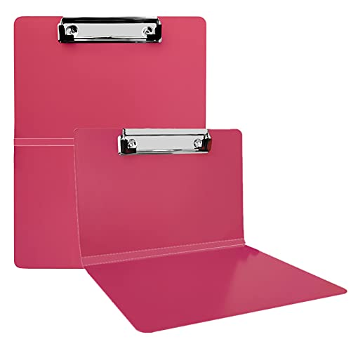 Folding Nursing Clipboard | Premium Aluminum Nurse Clipboard Foldable Nurses Folding Board with Generous Storage | Ideal Gifts for Nurses, Medical Students and Healthcare Professionals … (Red)
