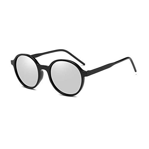 ZZOW Gafas De Sol Redondas Vintage para Mujer Diseñador De La Marca Moda Ins Popular Espejo Lente Reflectante Gafas Hombres Uv400 Gafas De Sol