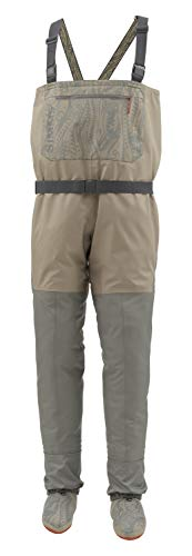 Simms Soul River Stockingfoot Chest Waders for Men, Waterproof and Breathable Fly Fishing Waders with Built-in Gravel Guard, Tan, Medium King