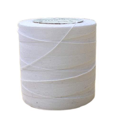 Multipurpose 100% Organic Cotton TEX 40 Sewing Thread - 500 Meter Spool - White