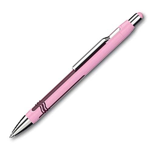 Schneider Epsilon Druckkugelschreiber (Strichstärke XB, Schreibfarbe: blau, dokumentenechte Mine) rosa-violett
