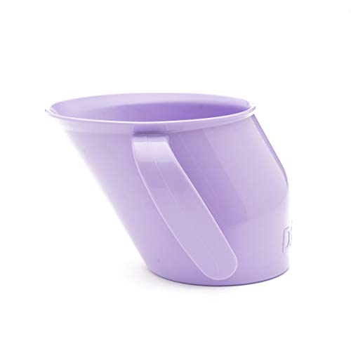 Doidy Cup - Training Sippy Cups for Toddlers & Babies - Unique Slanted Design Two Handles Baby Beaker - Great Weaning Cup for Milk, Water & Juice - Use from 3-6 Months to Toddler (Lilac)