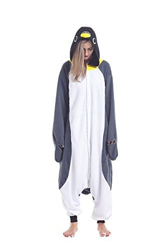 Sqlszt Women Men Adult Animal Penguin One Piece Onesie Cosplay Pajama Costume XL