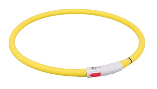 Trixie USB Leuchthalsband - Gelb