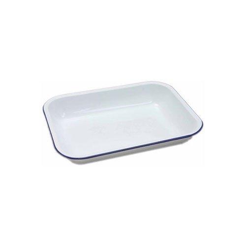 Genware 61031 Falcon Housewares Enamel Bake Pan, 31cm x 25cm x 5cm, Wh