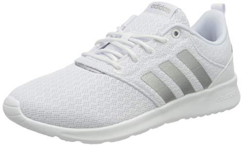 adidas Damen QT Racer 2.0 Sneaker, Cloud White/Silver Metallic/Grey, 38 EU