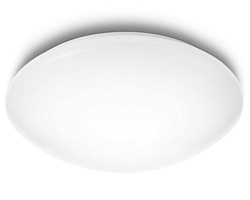 Philips MyLiving SUEDE plafón LED, luz blanca fría 6500K, 4X2.4W, blanco