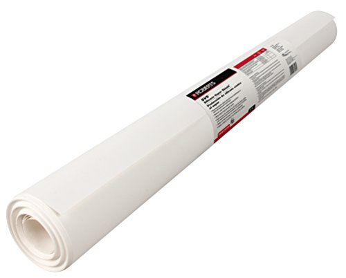 ROBERTS 70-198 Silicone Moisture Barrier 200 sq 31.5 in. x 76.25 ft. x 6 mil Underlayment for Solid & Engineered Wood Floors & LVP, White