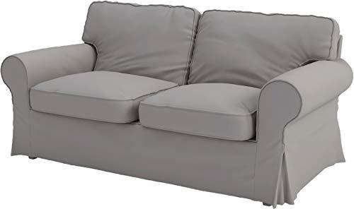 Custom Slipcover Replacement Die Ektorp Zweisitzer-Sofa-Bett-Abdeckung Ersatz ist nach Maß für IKEA Ektorp 2 Seater Sleeper Dichtes Hellgrau