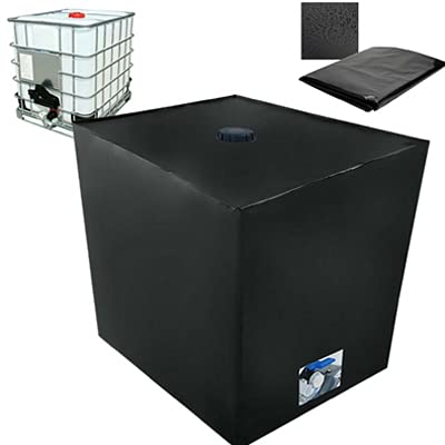 Bâche de réservoir d'eau, Bache pour Cuve 1000 L IBC, Anti-poussière Anti-UV Anti-Pluie (116 x 100 x 120 cm)