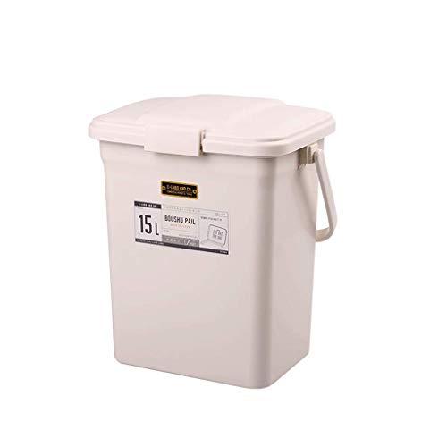 Papeleras Bote de Basura Desodorante Importado Botes de Cocina de baño para el hogar Gran Barril de Almacenamiento Cubierto Japón Bote de Basura Desodorante Importado FANJIANI