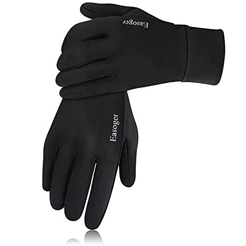 Guantes unisex para pantalla táctil Easoger, guantes para correr, para mujer, hombre, antideslizantes y reflectantes, con forro para correr, senderismo, conducción, bicicleta