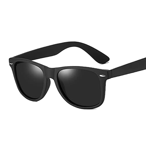 WANGZX Gafas De Sol Polarizadas para Hombre Gafas De Sol Clásicas con Remaches Retro para Hombre Montura Negra Gafas De Sol para Hombre Blackgray