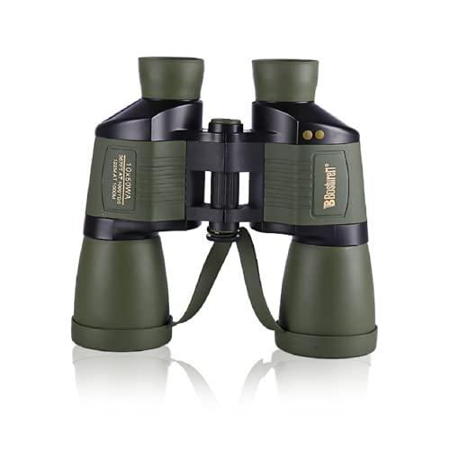 Bueuwe Fernglas Erwachsene, 10x50 Automatischer Zoom Ferngläser mit Entfernungsmesser, Wasserdicht Binoculars mit Wenig Licht Nachtsicht, HD Klein Feldstecher für Vogelbeobachtung, Jagd, Sport, Scout
