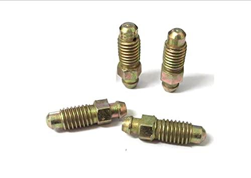 Lot de 4 vis de purge de frein 8 mm x 1,25 mm pour Kawasaki