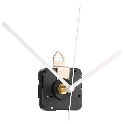 Hicarer 28 mm Lange Welle Quarzuhr Uhrwerk Teile Reparatur-Kit (Weiß)