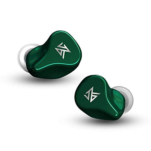 TWS True Wireless Bluetooth 5.0 Earbuds with Mic, KZ-Z1 HiFi Stereo in Ear Earphones, 10mm Dynamic Unit Hedsets, Lightweight Sport Headphones for Cell Phone (Green)