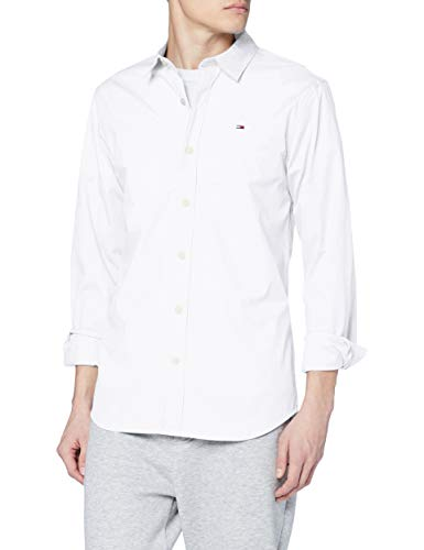 Tommy Hilfiger Original Stretch Camisa, Blanco (Classic White 100), Medium para Hombre