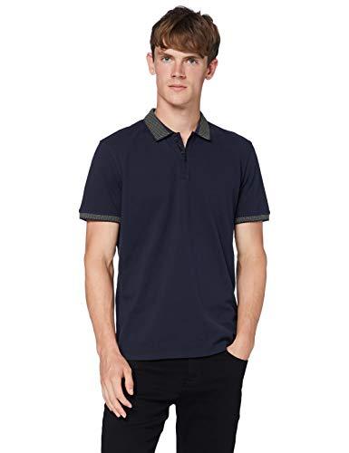 BOSS Mens Ploid Polo Shirt, Dark Blue (404), L