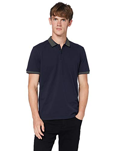 BOSS Mens Ploid Polo Shirt, Dark Blue (404), L