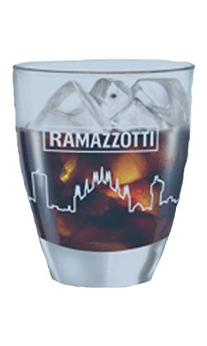 Ramazzotti Set mit 6 Gläsern aus Glas für Bitter.