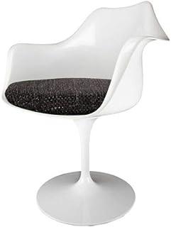 Eero Saarinen butaca de Estilo tulipán Negro Blanco y Texturizado