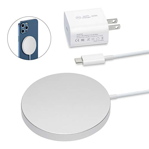 Magnetic Wireless Charger for iPhone 12, with 20W USB-C PD Adapter, Fast Wireless Charger Pad for M-agsafe Phone 12 Pro/ 12 Pro max