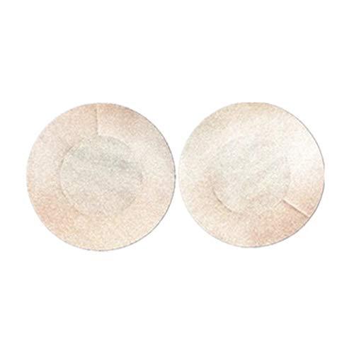 Fleulumira Brustwarzenabdeckungen, Brustblätter, Nippellose Abdeckungen für Frauen, Blume oder runde Form, 10 Paar Gr. Einheitsgröße, 10 Paar Nude rund